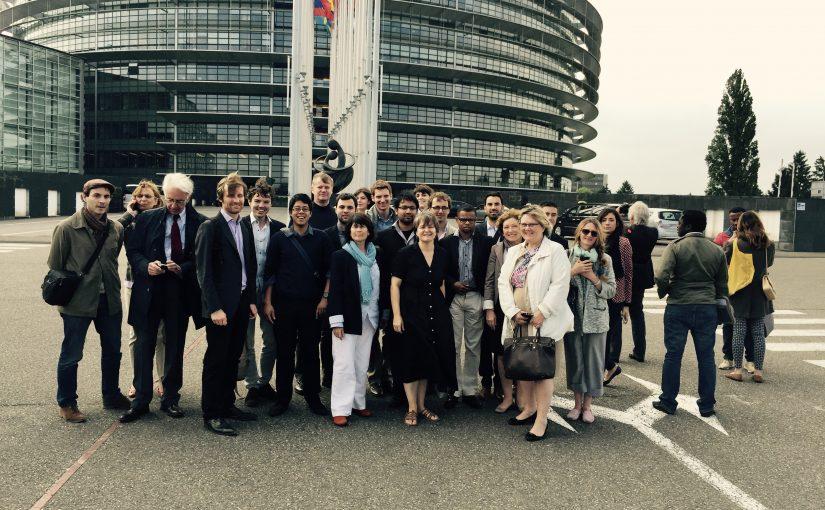 Visite du Parlement européen à Strasbourg avec Marielle de Sarnez